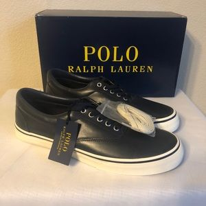 Men's Polo Shoes- Navy Leather